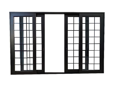 Aluminum Sliding Door, with Aluminum reinforcing Bar