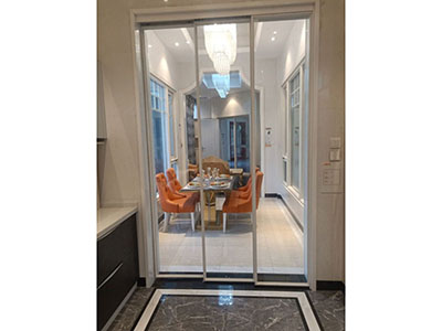 Aluminum Sliding Door, with narrow Aluminum Frame